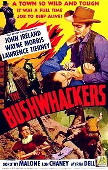 """The Bushwhackers is a 1952 American film directed by Rod Amateau. Tired of killing, war veteran Jefferson Waring rides west, but in Missouri he sees """"squatters"""" mowed down by men working for rich, ruthless Artemus Taylor... ."""