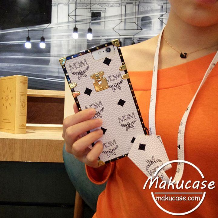 MCM iphone8/8plusケース ヴィンテージレザー風 iphone7 iphone7 plusケース エムシーエム かっこいい iphone7sケース ネックストラップ付き首掛け iphone6s plusケース耐衝撃