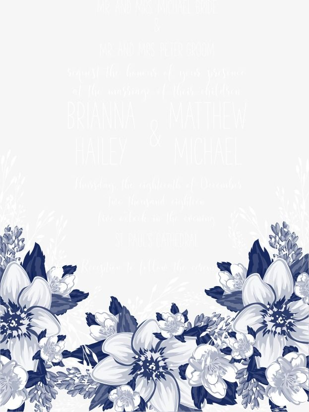 Vector Blue Flowers Invitations Blue Flowers Flowers Wedding Invitations Png And Vector Flower Background Wallpaper Blue Flower Wallpaper Flower Backgrounds