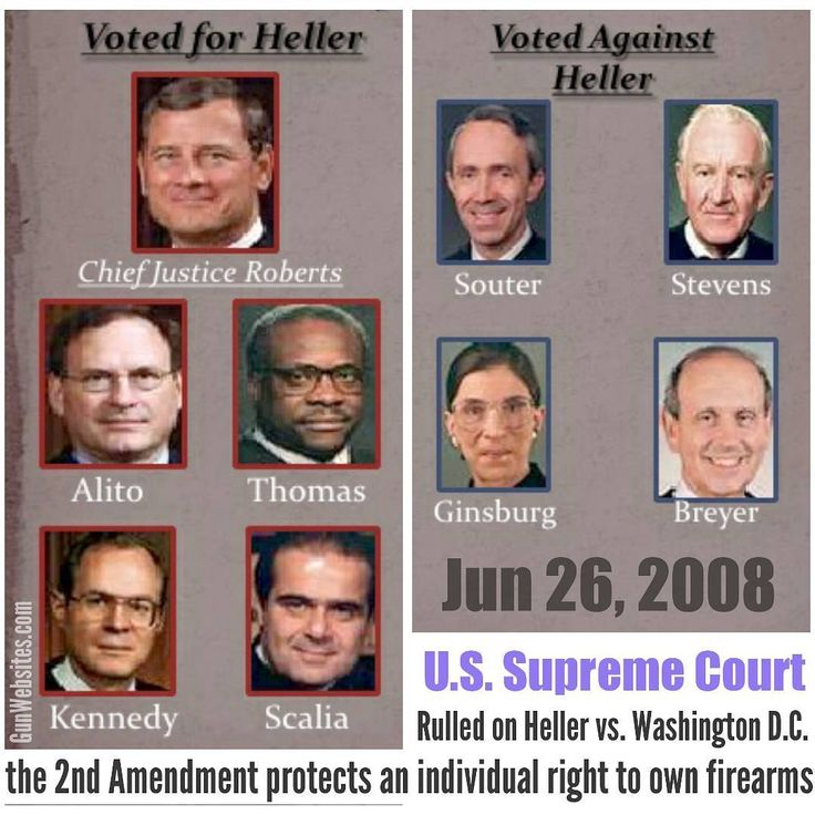 Jun 26, 2008  The US Supreme Court ruled 5 to 4, that Americans have an INDIVIDUAL right to own firearms, for self-defense and hunting.  This was the Court's first major pronouncement on gun rights in US history  It is NOT over, get involved  learn & share info on Supreme Court decisions  #HellerDecision  #HellerVsWashingtonDC #DCvs.Heller #LearnGunLaws #GunLaws