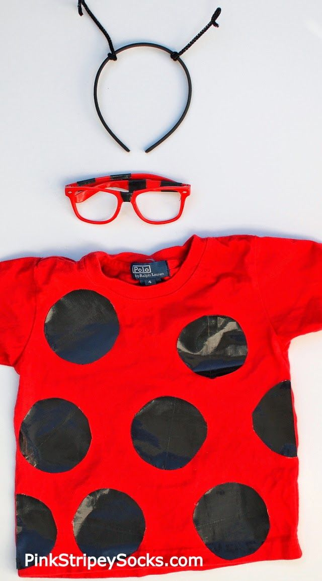 Easy Duct Tape Ladybug Costume