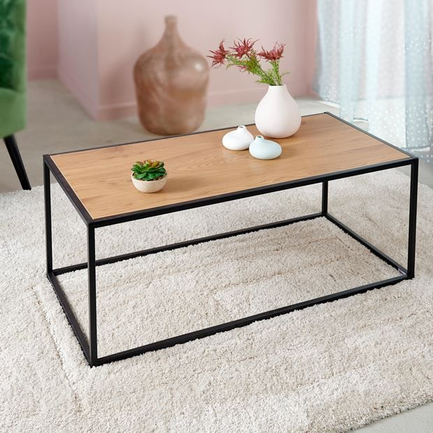 Davenport Table De Salon Naturel H 40 X Larg 50 X Long 100 Cm Table De Salon Salons Naturels Table Basse