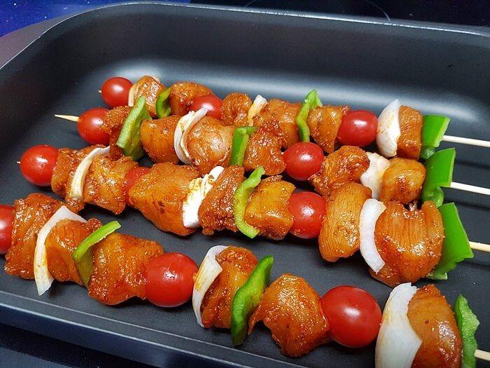 Brochetas De Pollo Con Verduras Mis Cosillas De Cocina Brochetas De Pollo Pollo Con Verduras Brochetas