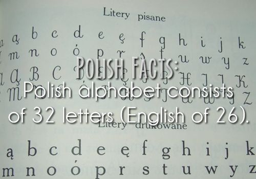 Polish Facts #23: Polish alphabet consists of 32 letters (English of 26).
