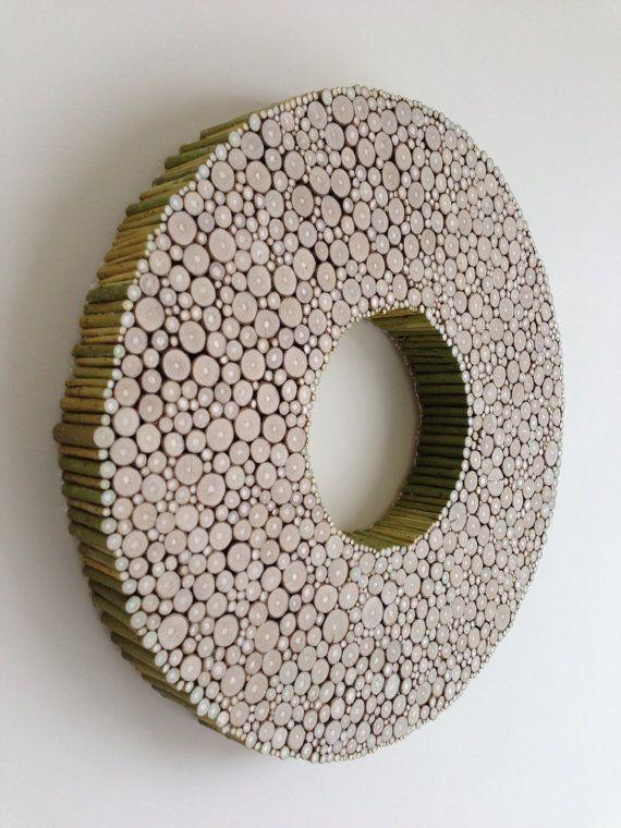 34 Wood Slice Home Décor Ideas: Wood Slice Wall Decoration