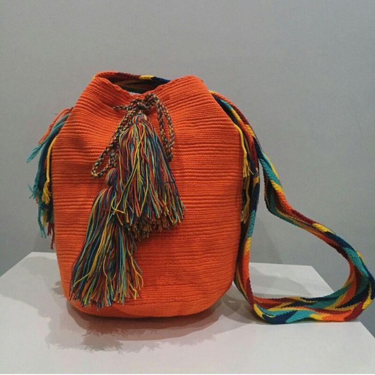 Mochila Unicolor Naranja