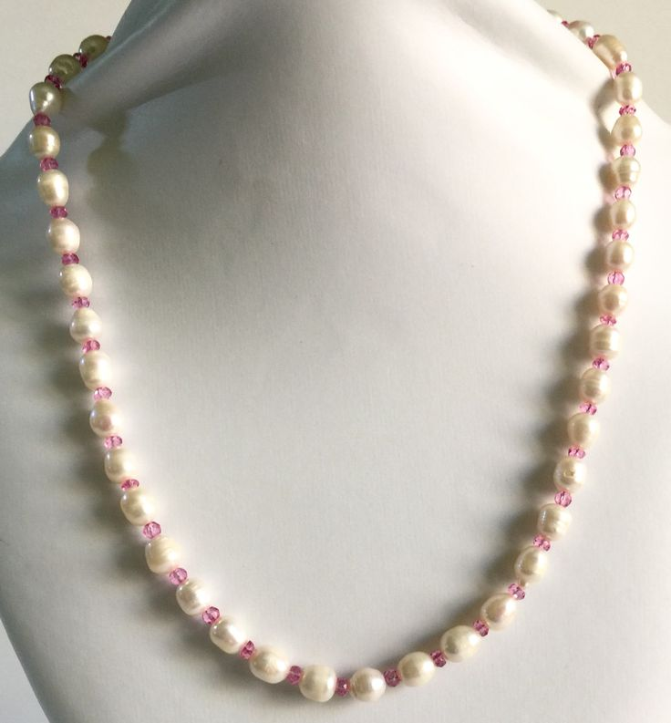 "27"" Snow White's Wedding Pearl Necklace with ruby"