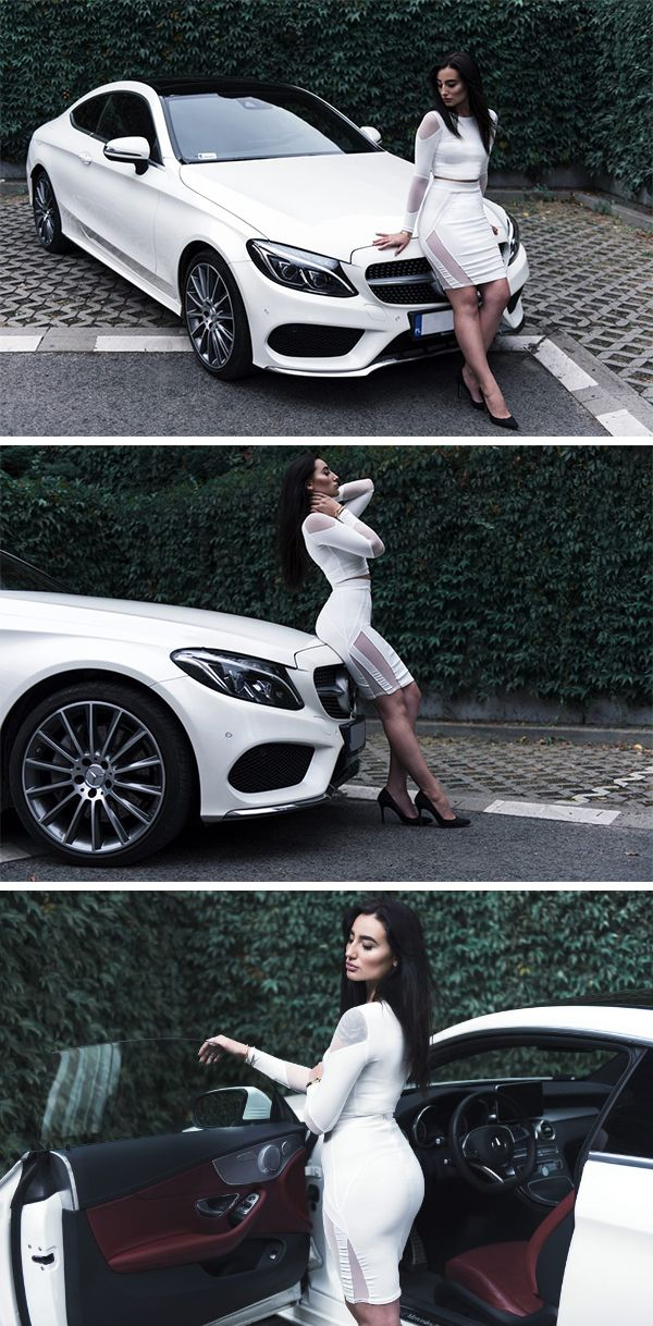 Instantly thrilling: the Mercedes-Benz C-Class Coupé. Photos via Drive4Fashion (http://drive4fashion.pl/).