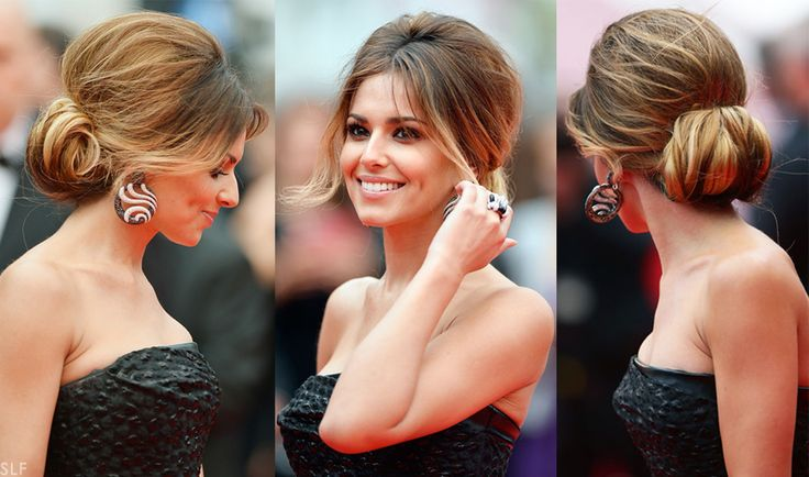 Best Hairstyleat#Cannes2014 Cheryl Cole in a Retro Round Volume Updo #Hairstyle at the #RedCarpet during Cannes Film Festival 2014