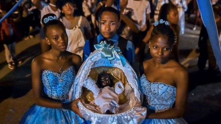 The tradition dates back to the days of slavery and has been preserved in an Afro-Colombian village.