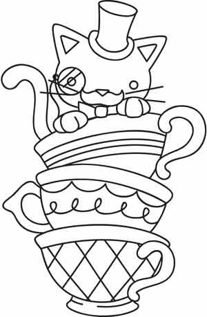 free tea party coloring pages for kids | 40 best KIDS - Art: Coloring Pages images on Pinterest ...
