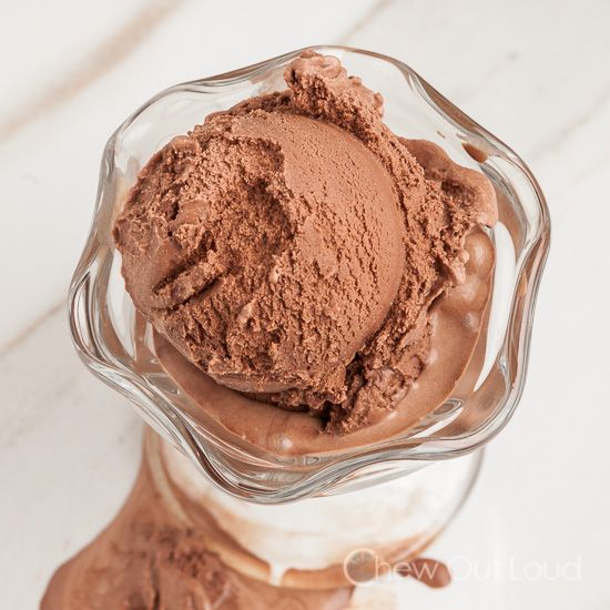 This Simple Chocolate Ice Cream is super easy, takes only 6 ingredients, and is totally egg-free! Hassle-free, rich, decadent chocolate ice cream.