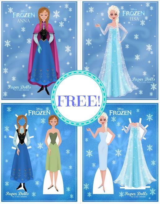 FREE Disney Frozen Printable Paper Dolls! - Mojosavings.com