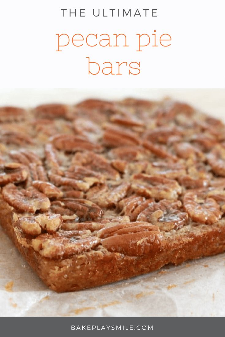 The yummiest, easiest PECAN PIE BARS ever.. enjoy at anytime of the day! Perfect with an afternoon cup of tea… or as a cheeky late night treat!