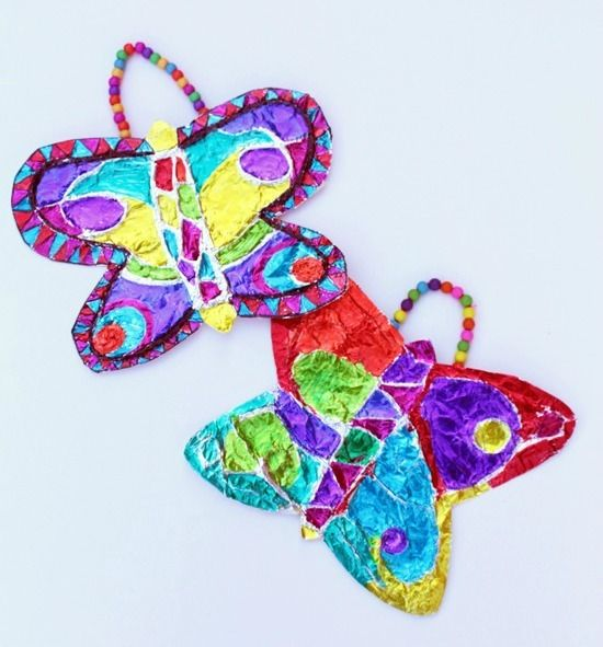 Crazy Colorful Butterfly Craft
