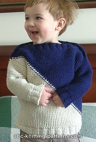 Child's Color Block Sweater By Elaine Phillips - Free Knitted Pattern - (ravelry)