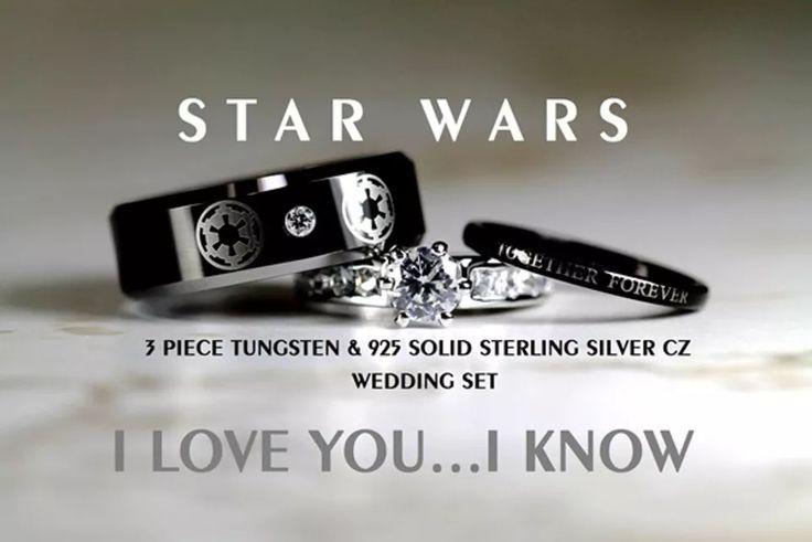These Are the Ultimate Wedding Rings for Hardcore Movie Geeks! #weddingring #weddingset