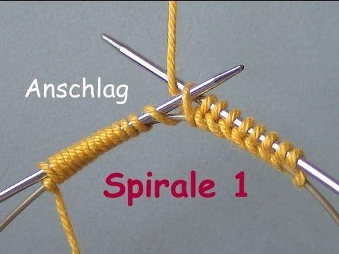 01.6 - STRICKEN : ZWILLINGE - super einfach anschlagen - MPs Wickel-Anschlag - Beispiel 6 - YouTube