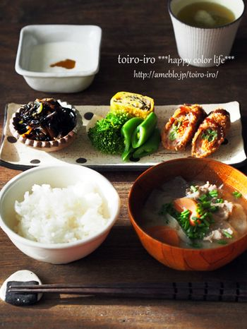 """飯島奈美さんみたいに♪幸せ""""朝ごはん""""と、和食の献立のお勉強"""