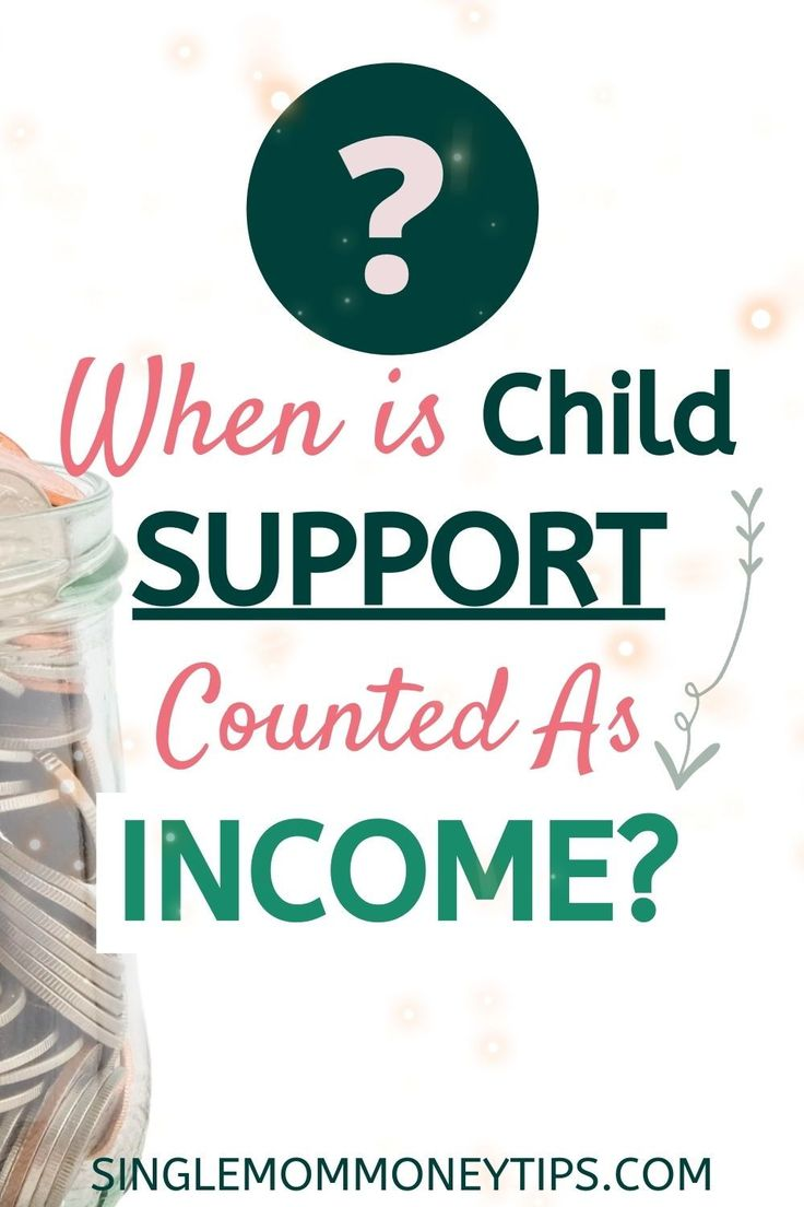 Is child support for taxes or government programs