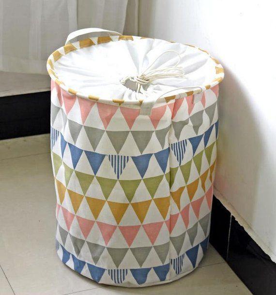 This Laundry Hamper Fabric Round Storage Basket Will Make A