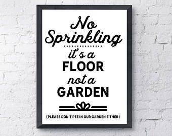 snarky toilet sign printable instant download funny