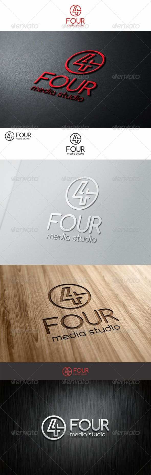 Four Number  Logo Design Template Vector #logotype Download it here: http://graphicriver.net/item/four-logo-number/7564218?s_rank=5?ref=nesto