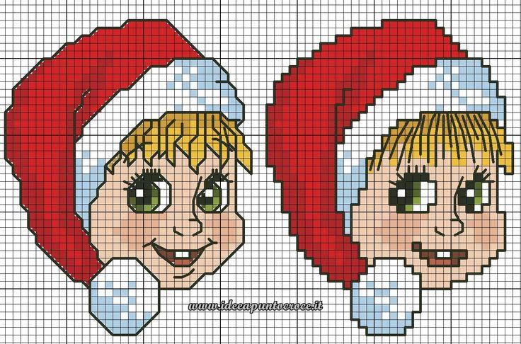 schema masha natalizia punto croce
