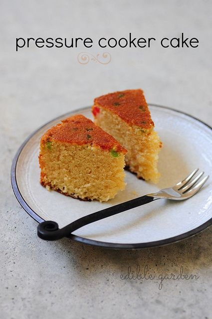 Pressure cooker eggless sponge cake recipe, how to make cake in pressure cooker without an oven. Easy step by step recipe with pictures.