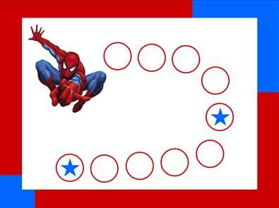 Spiderman reward chart - with correct link to printable chart