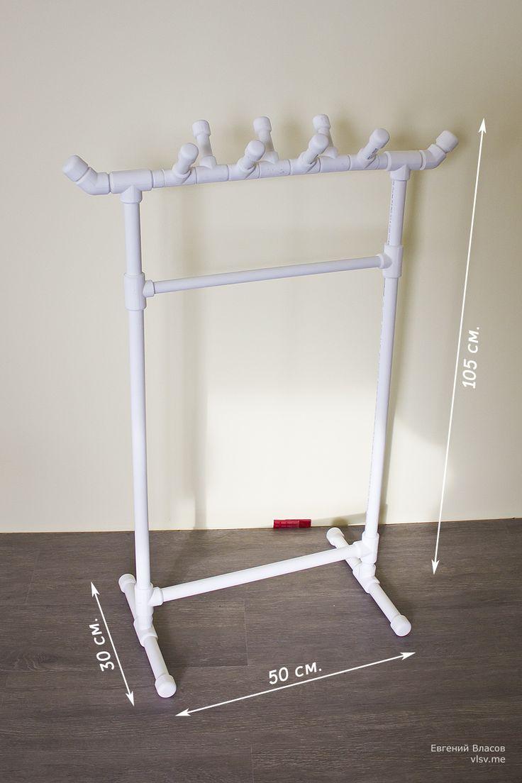 Создание вешалки для детской одежды из полипропиленовых труб и фитингов себестоимостью — 550 рублей.