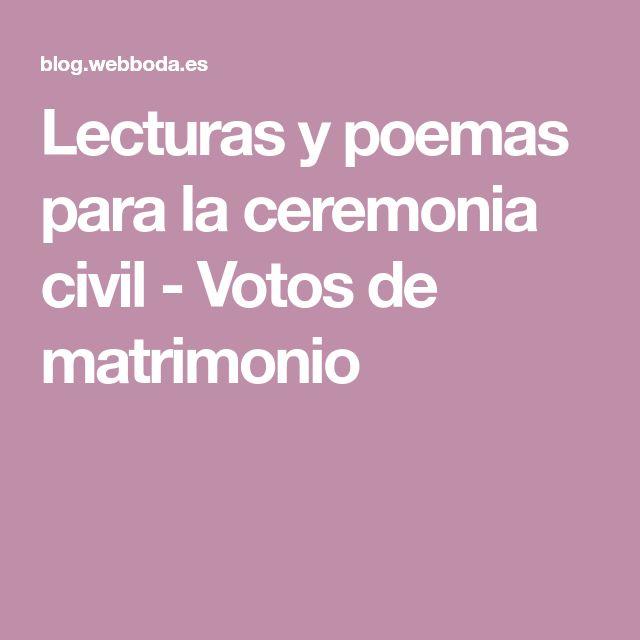 Lecturas y poemas para la ceremonia civil - Votos de matrimonio