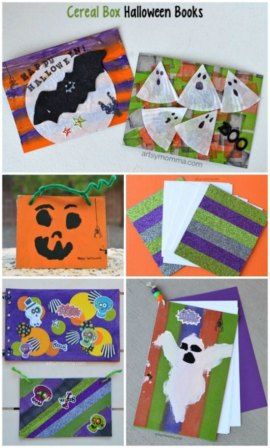 Cereal Box Halloween Book Crafts for Kids - Inexpensive DIY activity for the whole family! Use them as sketch pads, art books, journals, notes, memories, and more! #HugTheMess (Sponsored by Huggies)