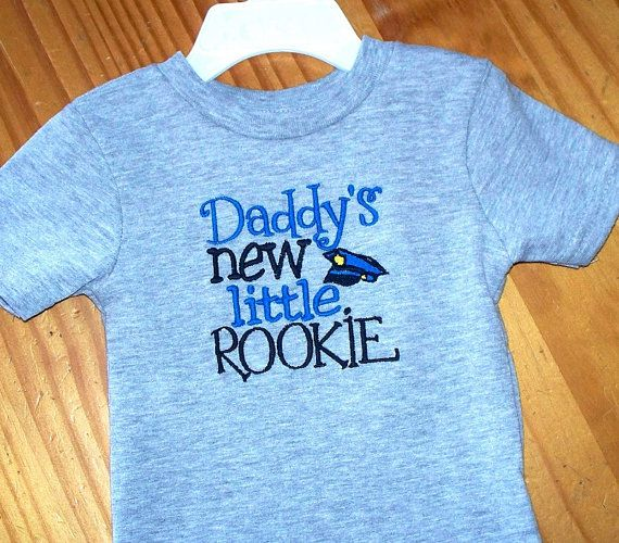 Police Officer Toddler T Shirt Daddy S New Little Rookie