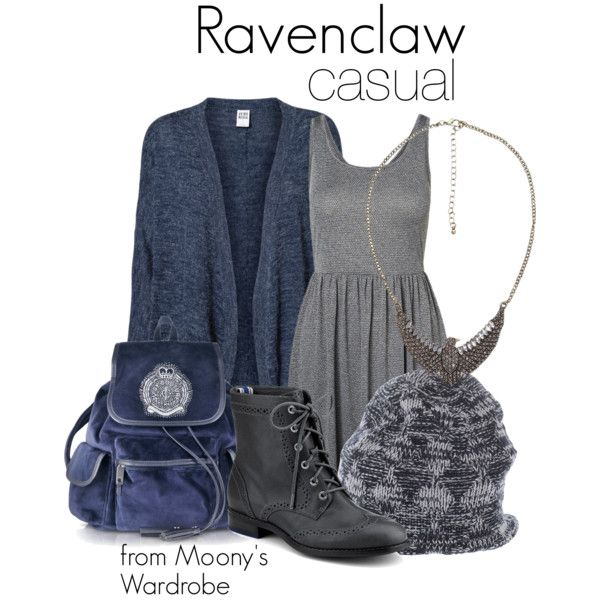 Ravenclaw: Casual by evalupin on Polyvore featuring Vero Moda, Sperry Top-Sider, Juicy Couture, BKE, Diesel Black Gold, casual, harrypotter, hogwarts and ravenclaw