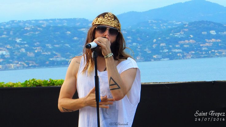 Jared Leto live in Saint Tropez July 24 2014 ♥ Thirty Seconds To Mars  Church Of Mars ♪ ♫  (mine pic)