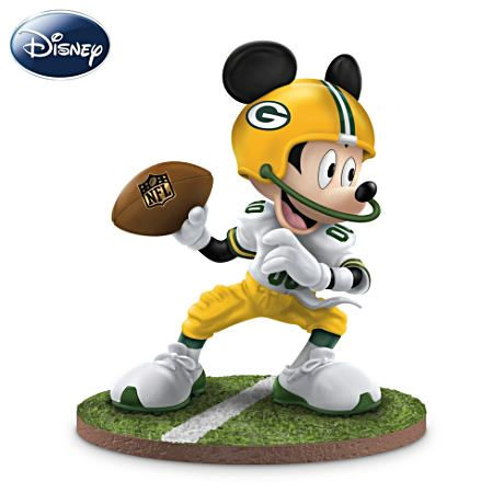 Green Bay Packer Mickey <3 How can you get better than this? Combining 2 of my favourite things!!