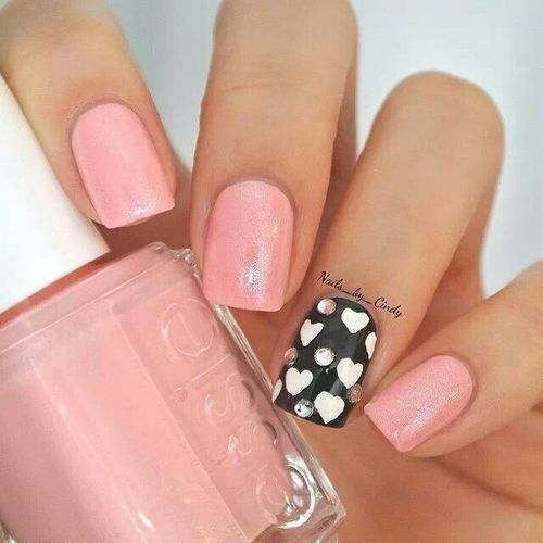 Cute Heart Nail Design
