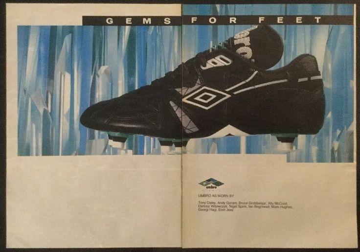 1991 Football magazine picture poster UMBRO FOOTBALL BOOTS ADVERT (On 2xA4) | eBay