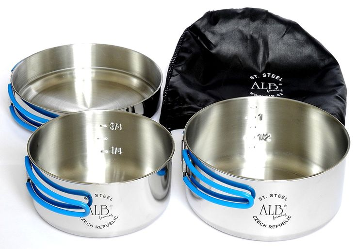Alb Stainless Steel Camping Cook Set - 3 Pieces *** Be sure to check out this awesome product.