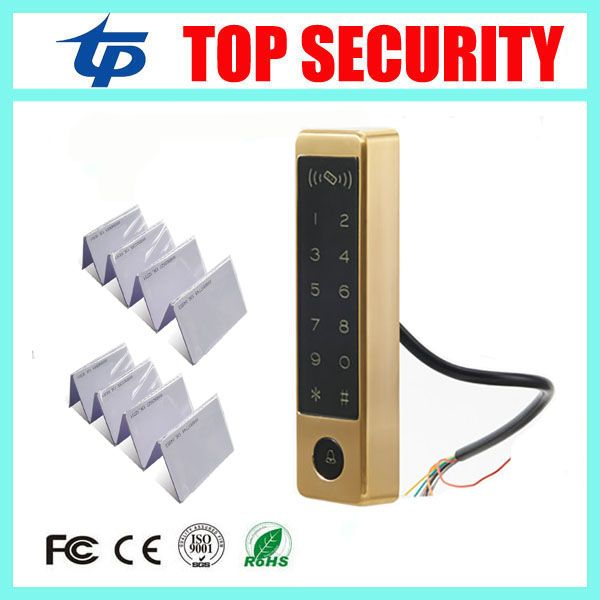 IP65 waterproof door access control system touch keypad 125KHZ RFID card access controller standalone door access control reader