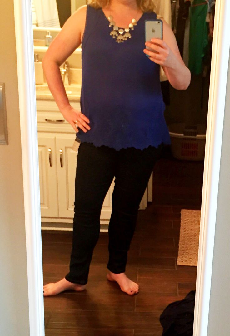 Pixley Miandra Embroidered Top, Cobalt, size large $54 Liverpool Sienna Skinny Pullon Jean, Navy, size 12P, $78 Bancroft Leighton Metal Bauble Necklace, silver $34 May 2015 Stitch Fix #stitchfix
