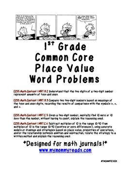 place value word problems common core 1st grade. Black Bedroom Furniture Sets. Home Design Ideas