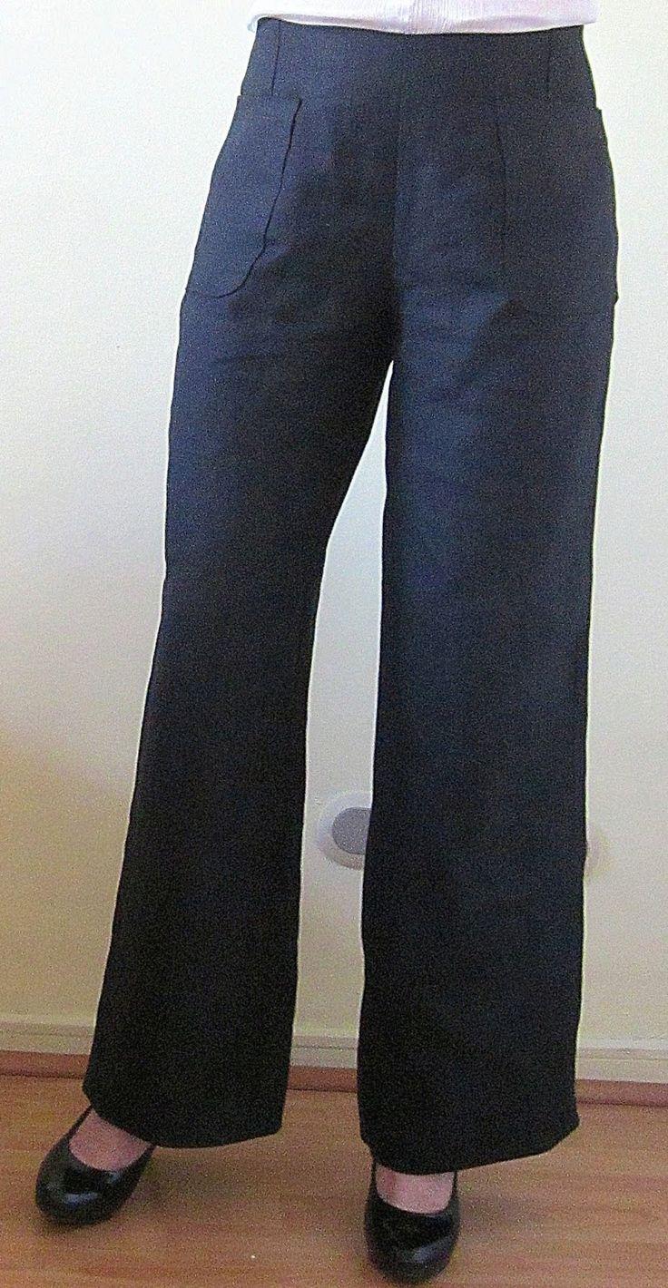 patrón de costura gratis Burda Style pantalón pata elefante acampanado. Paso a paso aprende costura fácil
