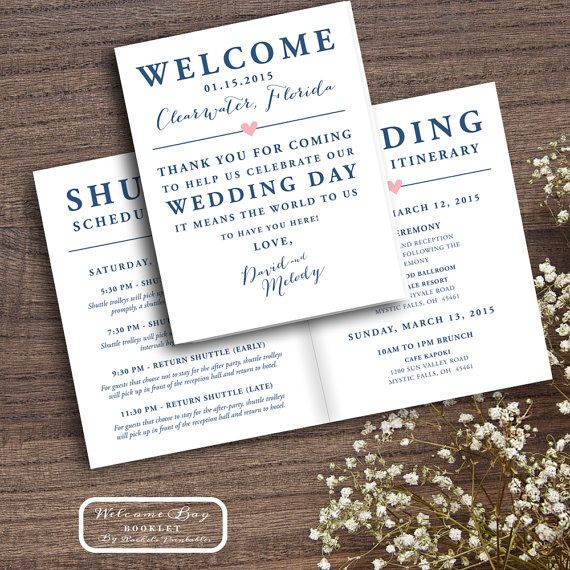 Printable Wedding Welcome Bag Booklet Note Itinerary Wedding Welcome Bag Tags Notes Hotel Welcome Bags Destination Bags Box Boxes Guests
