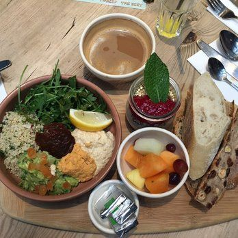 Vegan - Le Pain Quotidien brunch. All day, best in Covent Garden.