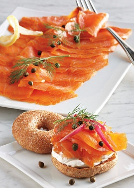 Bagels, Happy sunday and Smoked salmon on Pinterest