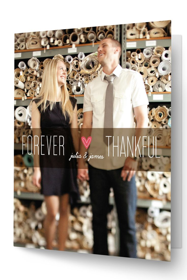 Wedding thank you card by Minted 75