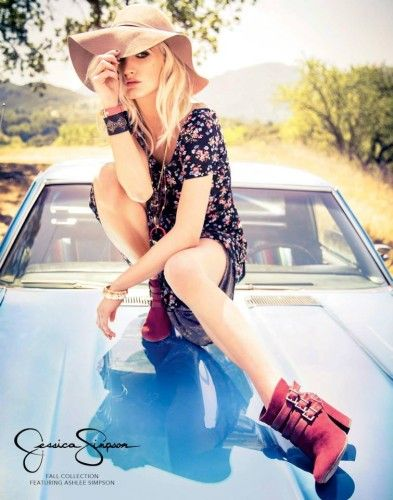 I hate that I love her but I do. Ashlee Simpson for Jessica Simpson clothing line Fall 2013.