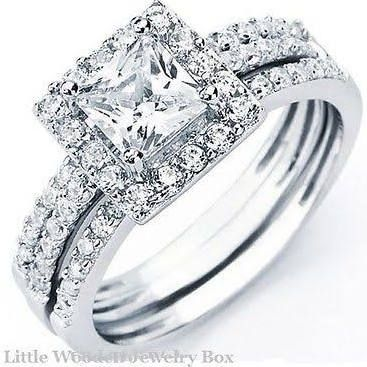 interlocking wedding rings princess cut google search - Pictures Of Wedding Rings